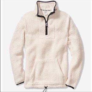 VS Pink Sherpa Half-Zip
